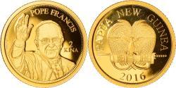 World Coins - Coin, Papua New Guinea, 2 Kina, 2016, , Gold