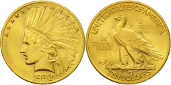 Us Coins - United States, Indian Head, $10, Eagle, 1932, Philadelphia, KM 130