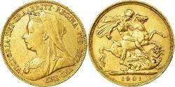 Ancient Coins - Coin, Great Britain, Victoria, Sovereign, 1901, London, , Gold, KM:785