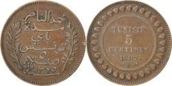 World Coins - TUNISIA, 5 Centimes, 1907, Paris, KM #235, , Bronze, 26, 4.99