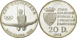 World Coins - Coin, Andorra, 20 Diners, 1988, , Silver, KM:48