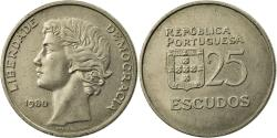 World Coins - Coin, Portugal, 25 Escudos, 1980, , Copper-nickel, KM:607a