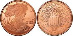 Us Coins - United States of America, Token, One Ounce Cooper, Liberty, 2011, , Copper