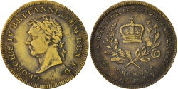 World Coins - United Kingdom, Great-Britain, Token, 1821, , Brass, 25, 4.10