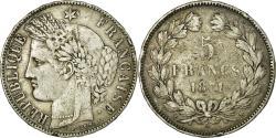 World Coins - Coin, France, Cérès, 5 Francs, 1871, Bordeaux, , Silver, KM:818.2