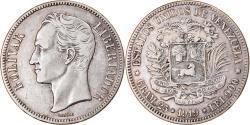 World Coins - Coin, Venezuela, Gram 25, 5 Bolivares, 1919, , Silver, KM:24.2
