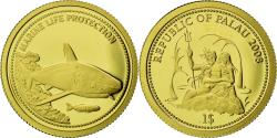 World Coins - Coin, Palau, Requin gris, Dollar, 2008, Proof, , Gold, KM:163