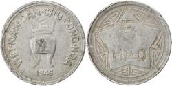 World Coins - VIET NAM, 5 Hao, 1946, KM #2.1, , Aluminum, Lecompte #2, 3.05