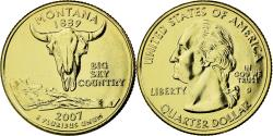 Us Coins - Coin, United States, Montana, Quarter, 2007, U.S. Mint, , Gold plated