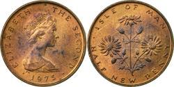 World Coins - Coin, Isle of Man, Elizabeth II, 1/2 New Penny, 1975, Pobjoy Mint,