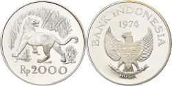 Ancient Coins - Coin, Indonesia, 2000 Rupiah, 1974, Proof, , Silver, KM:39a