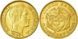 World Coins - Coin, Colombia, 5 Pesos, 1924, , Gold, KM:204