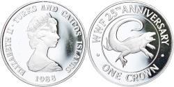 World Coins - Coin, TURKS & CAICOS ISLANDS, Elizabeth II, Crown, 1988, Proof,