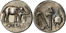 Ancient Coins - Coin, Julius Caesar, Denarius, MS(63), Silver, Crawford:443/1