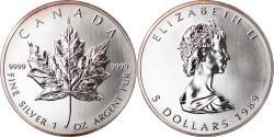World Coins - Coin, Canada, Elizabeth II, 5 Dollars, 1989, Royal Canadian Mint, Ottawa, BU