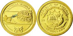 World Coins - Liberia, 12 Dollars, Chapelle Sixtine, 2010, , Gold