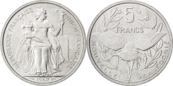 World Coins - NEW CALEDONIA, 5 Francs, 1952, Paris, KM #E10, , Aluminum, Lecompte...