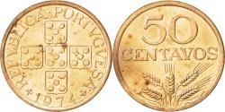 World Coins - PORTUGAL, 50 Centavos, 1974, KM #596, , Bronze, 22.6, 4.52