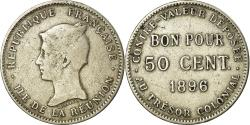 World Coins - Coin, Réunion, 50 Centimes, 1896, , Copper-nickel, KM:4, Lecompte:41