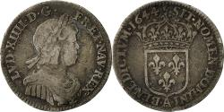 World Coins - Coin, France, Louis XIV, 1/12 Écu à la mèche courte, 1/12 ECU, 10 Sols, 1644