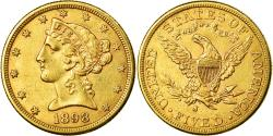 Us Coins - Coin, United States, Coronet Head, $5,1898, San Francico, , Gold,KM 101