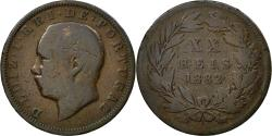 World Coins - Coin, Portugal, Luiz I, 20 Reis, 1882, , Bronze, KM:527