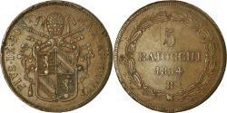 World Coins - Coin, ITALIAN STATES, PAPAL STATES, Pius IX, 5 Baiocchi, 1854, Bologna