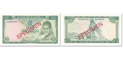 World Coins - Banknote, Zambia, 2 Kwacha, 1969, Undated (1969), Specimen, KM:11s, UNC(65-70)