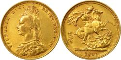 World Coins - Coin, Australia, Victoria, Sovereign, 1889, Sydney, , Gold, KM:10