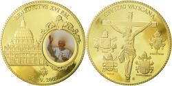World Coins - Vatican, Medal, Le Pape Benoit XVI, 2005, MS(65-70), Copper Gilt