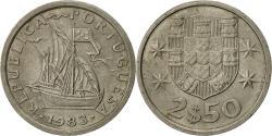 World Coins - Portugal, 2-1/2 Escudos, 1983, , Copper-nickel, KM:590