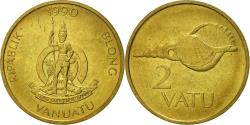 World Coins - Vanuatu, 2 Vatu, 1990, British Royal Mint, , Nickel-brass, KM:4