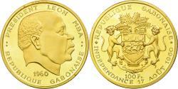 World Coins - Coin, Gabon, Léon Mba, 100 Francs, 1960, Paris, Proof, , Gold, KM:4