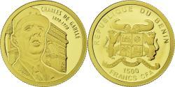 World Coins - Coin, Benin, Charles de Gaulle, 1500 Francs CFA, 2010, , Gold