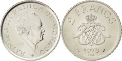 World Coins - MONACO, 2 Francs, 1979, KM #E71, , Nickel, Gadoury #151, 7.47