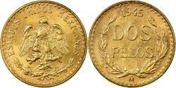 World Coins - Coin, Mexico, 2 Pesos, 1945, Mexico City, , Gold, KM:461