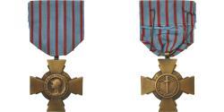 World Coins - France, Croix du Combattant, Medal, 1914-1918, Excellent Quality, Bronze, 36.5