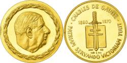 World Coins - France, Medal, Charles De Gaulle, French Fifth Republic, History, 1970,