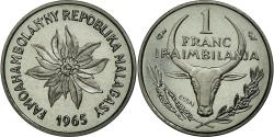 World Coins - Coin, Madagascar, Franc, 1965, Paris, MS(65-70), Stainless Steel