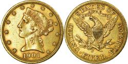 Us Coins - Coin, United States, Coronet Head, $5, 1901, San Francisco, , Gold