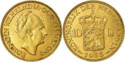 World Coins - Coin, Netherlands, Wilhelmina I, 10 Gulden, 1933, , Gold, KM:162