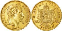 World Coins - Coin, France, Napoleon III, Napoléon III, 20 Francs, 1862, Strasbourg