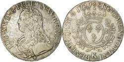 World Coins - Coin, France, Louis XV, Écu aux branches d'olivier, Ecu, 1727, Bordeaux