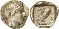 Ancient Coins - Coin, Attica, Athens, Tetradrachm, 454-404 BC, Athens, AU(50-53), Silver