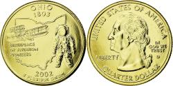 Us Coins - Coin, United States, Ohio, Quarter, 2002, U.S. Mint, , Gold plated