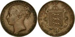 World Coins - Coin, Jersey, Victoria, 1/52 Shilling, 1841, , Copper, KM:1