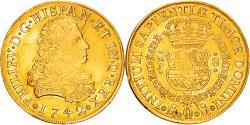 World Coins - Coin, Mexico, Philip V, 8 Escudos, 1742, Mexico City, , Gold, KM:148