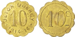 World Coins - France, 10 Centimes, , Brass, Elie #315.4, 2.76
