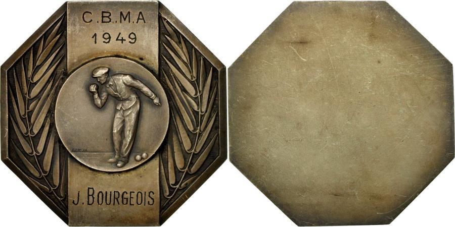 World Coins - France, Medal, Sport, Prix de Pétanque, 1949, Fraisse, , Silvered