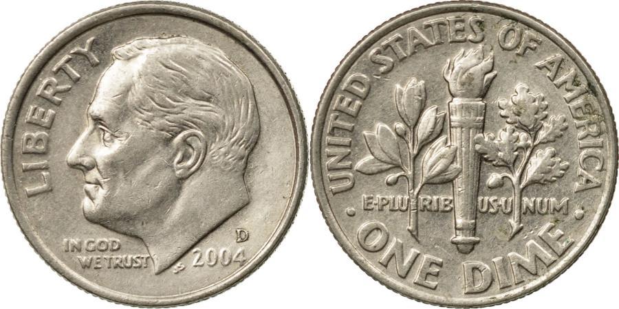 US Coins - Coin, United States, Roosevelt Dime, Dime, 2004, U.S. Mint, Denver,